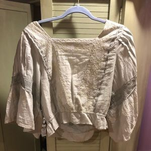Abercrombie and Fitch light green blouse